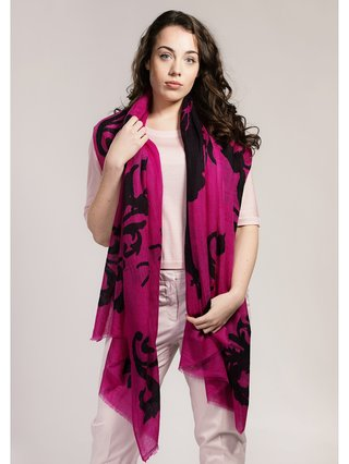 Asneh Lola Cashmere Scarf in Cactus Flower Pink