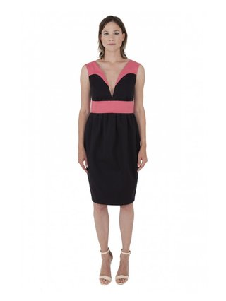 LIZA VETA COTTON PEGGED DRESS