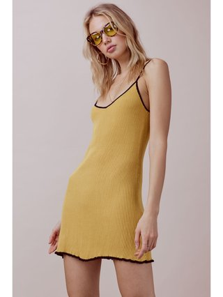 For Love & Lemons Ruffle Edge Tank Dress