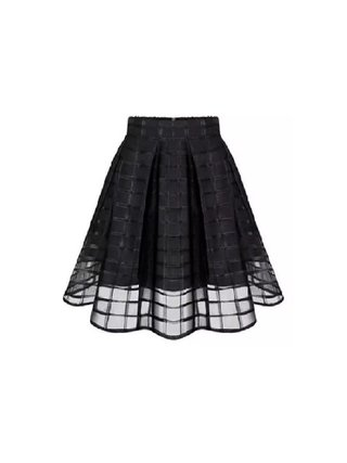 Kari C.  Overlay mini skirt