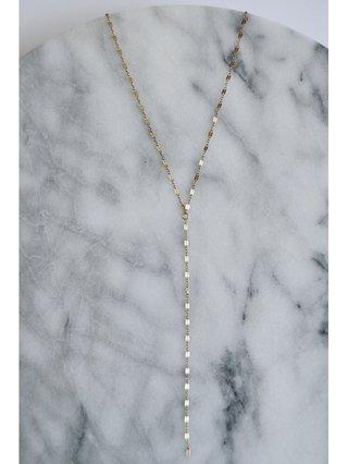 Fire & Honey Lariat Necklace