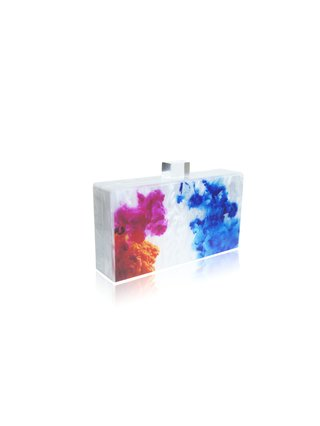 Milanblocks Abstract Paint Acrylic Box Clutch