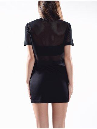 Cara Cheung Mesh T-Shirt Dress - Black