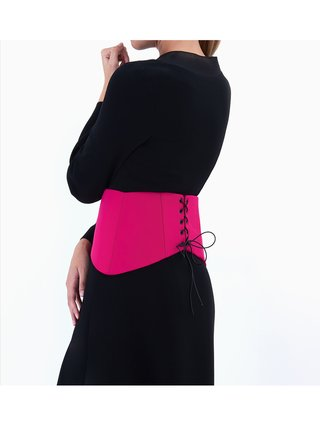 Sarah Bond Marici Corset Belt Hot Pink