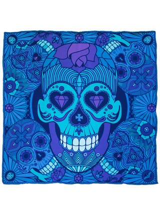 Furious Goose We're all Going to Die – Silk Pocket Square Violet