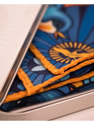 Furious Goose We are on a journey – Silk Pocket Square Blue