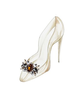 Kari C. Honey Brown Aster Shoe Bijoux clip