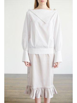 HB By Hanna Baranava Grey Midi Skirt