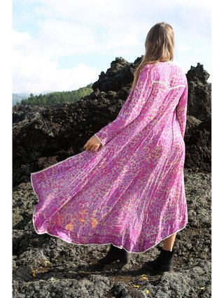 Tulle & Batiste Hunter Lace Coat Magenta