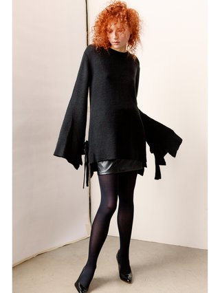 Hilary MacMillan Oversized Knit with Tie Closure