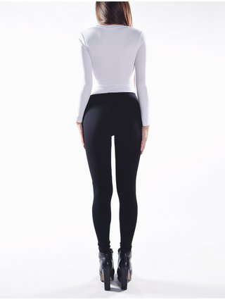 Cara Cheung Zipper Leggings - Black