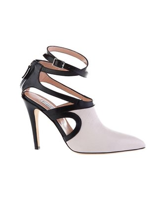 Kari C. Aria Cream Cut-Out Leather Boot