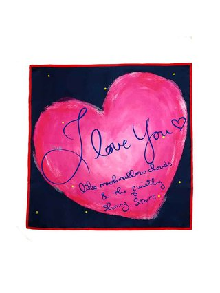 CHRITIFF Love Like Marshmallow & Stars Scarf 120cm