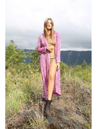 Tulle & Batiste Hunter Lace Coat Magenta