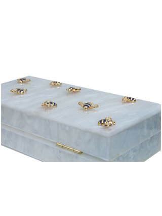 Milanblocks Bee Acrylic Box Clutch