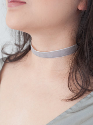 And The Rest Is Stardust Insta Blue Grey Velvet Choker