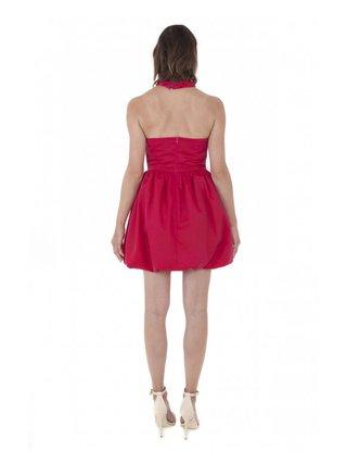 LIZA VETA COTTON BUBBLE DRESS RED