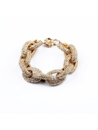 Luxe Paved Link Bracelet Gold