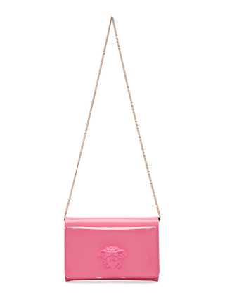 Pink Patent Medusa Shoulder Bag