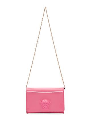 Pink Patent Medusa Shoulder Bag