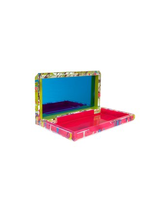 Stefanie Phan Life Of The Party Neon Acrylic Clutch