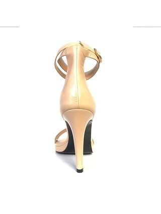 Kari C. Sherry II Nude Sandals