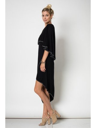 Arcade Attire Cape Back Dress