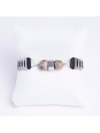 Monoxide Style What Time Is It Mr. Wolf Bracelet - Marble & Hex Nut