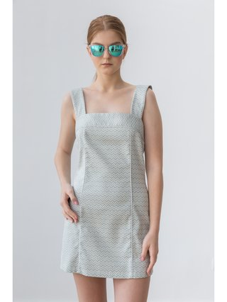 HB by Hanna Baranava Silver Short Dress