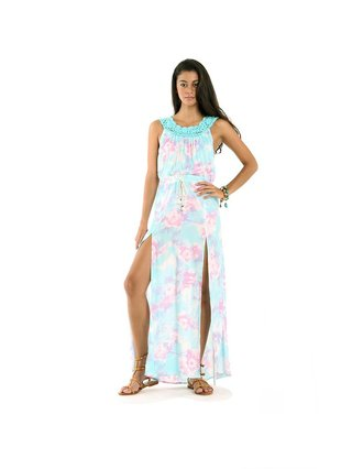 Tulle & Batiste Belle Maxi Dress Blue Mist