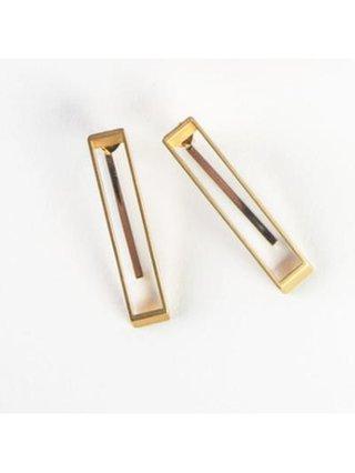 Monoxide Style Geometrix Earring - Gold