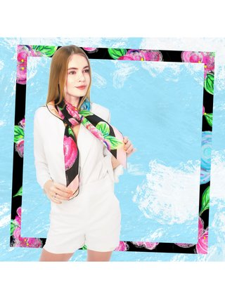 CHRITIFF Loving Viva Scarf (Jade Black) 120cm