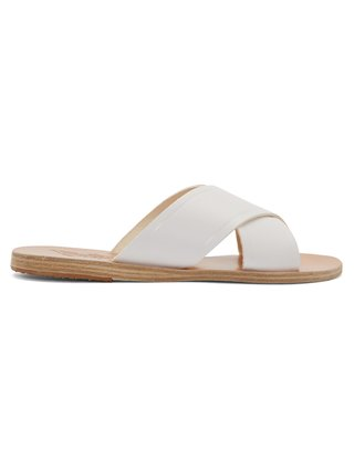 White Leather Thais Sandals