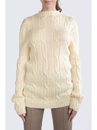 HB by Hanna Baranava White Handmade Pullover