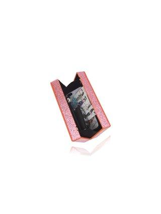 Milanblocks Pink Glitter Acrylic Box Clutch