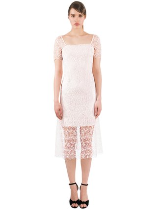 LIZA VETA Midi Guipure Lace Dress