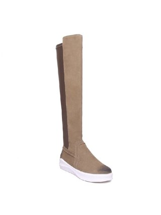 Kari C. Jordan Brown Sporty Tall Boot