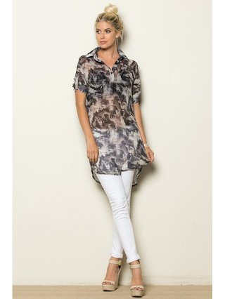 Arcade Attire Printed Tunic Top