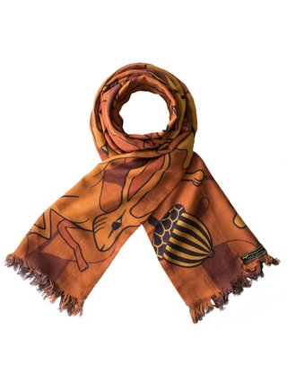 Furious Goose Hares – Autumn, Reversible Long Scarf
