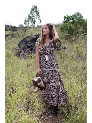 Tulle & Batiste Savannah Maxi Dress Chestnut