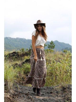 Tulle & Batiste Savannah Maxi Skirt Chestnut