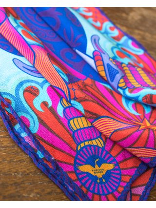 Furious Goose Love Bloody Hurts – Silk Pochette Blue