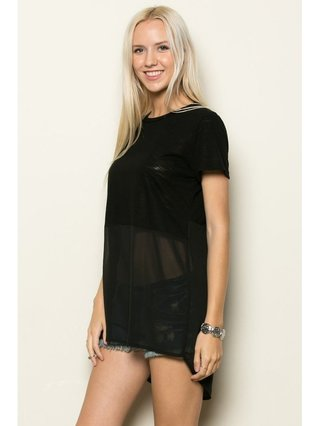 Arcade Attire Tunic Short Sleeve Top
