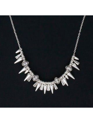 Rivet Mini Spikey Necklace Silver