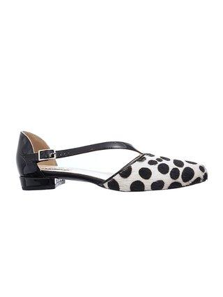 Kari C. Hattie Dalmatian Print Pony Skin d'Orsay Flats