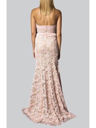 Narces Pink Lace Organza Gown