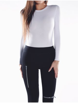 Cara Cheung Long Sleeve Bodysuit - White