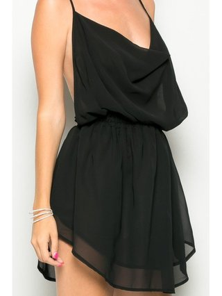 Arcade Attire Cross Back Dress - Black