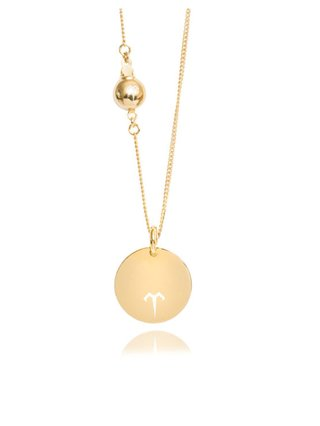 Ternary London MEDIUM COIN PENDANT LONG NECKLACE GOLD