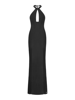 Aloura London Saffron Gown - Black